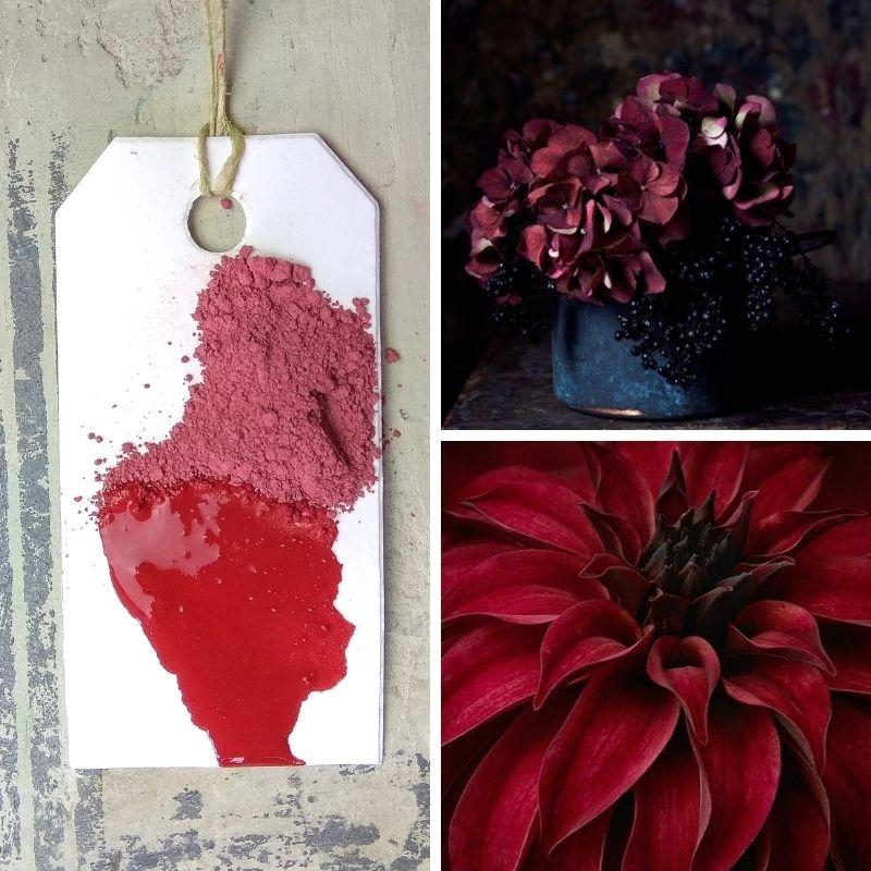 Χρώμα παλαίωσης Milk Paint  Marsala Red, Maja's Memories