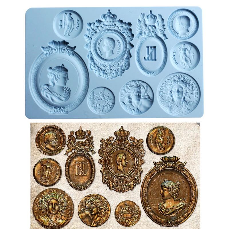 Καλούπι σιλικόνης, Αρχαία νομίσματα, 13x20cmx8mm