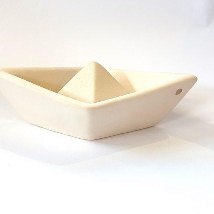 Καραβάκι κεραμικό μικρό λευκό 11,5x7x Y3.5cm