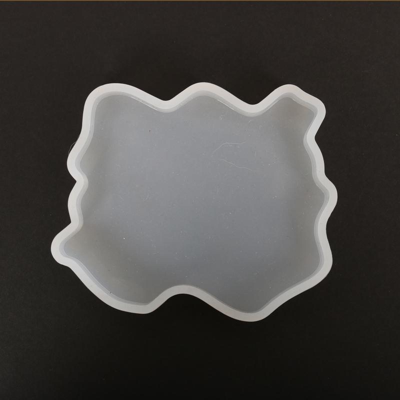 Καλούπι σιλικόνης γεώδης λίθος οβάλ, 9x8,5x1cm