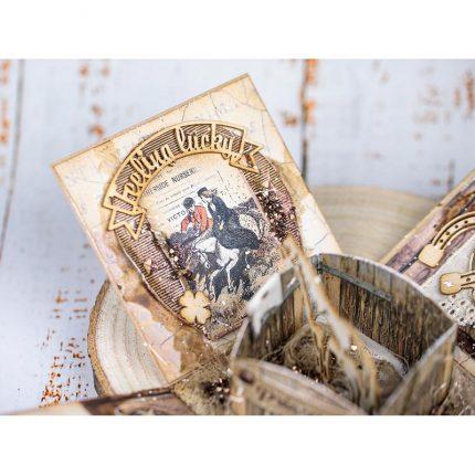 Die Cuts Chipboard Stamperia 15x30cm, Romantic Horses