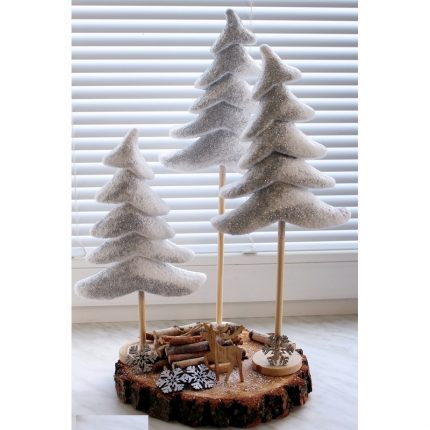 Χριστουγεννιάτικο δέντρο από φελιζόλ, 16x20 cm