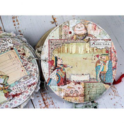 Die Cuts Chipboard Stamperia 15x30cm, Alice in Wonderland