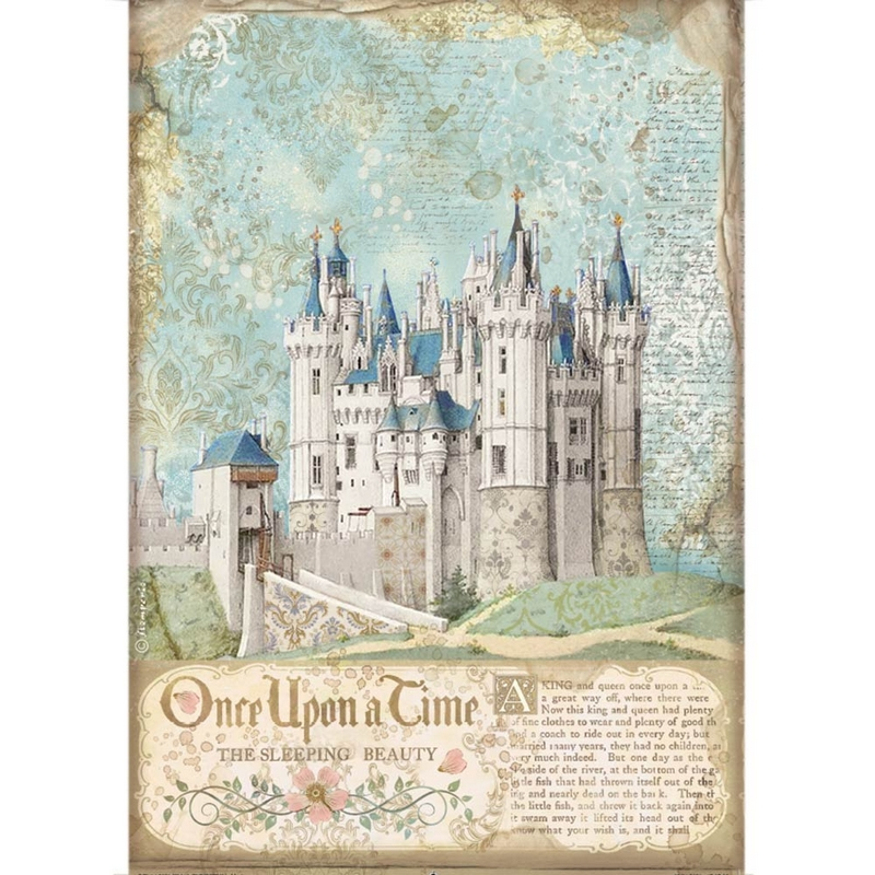 Ριζόχαρτο Stamperia 21x29cm, Sleeping Beauty Castle