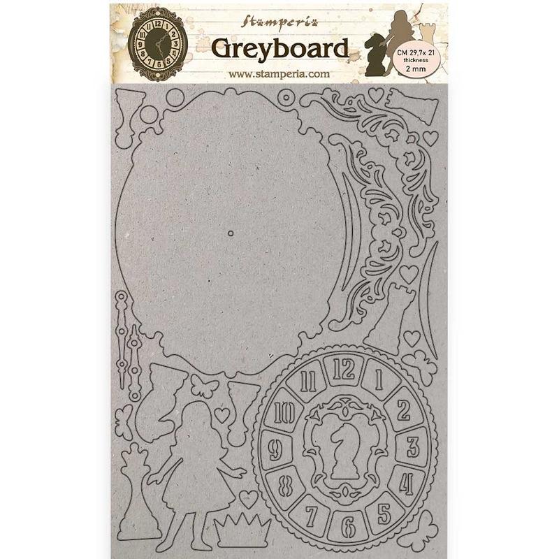 Διακοσμητικά από χαρτόνι Stamperia, 21×29,7cm, Sleeping Beauty Castle