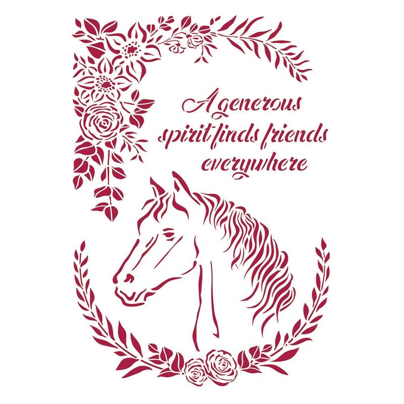 Στένσιλ Stamperia 21x29,7cm, Romantic Horses, Horseshoe