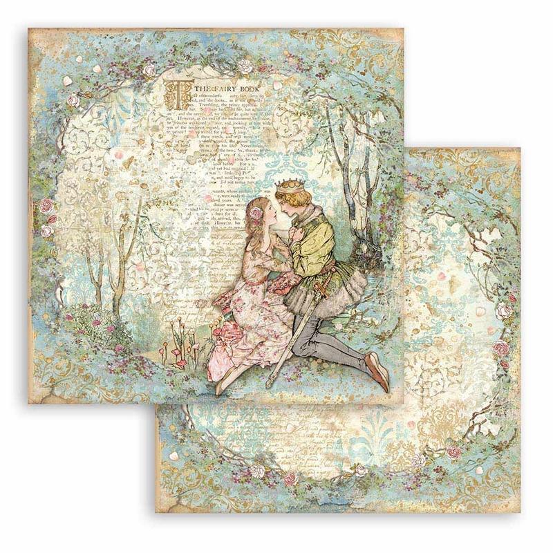 Χαρτί scrapbooking διπλής όψης 30x30cm Stamperia, Alice in Wonderland