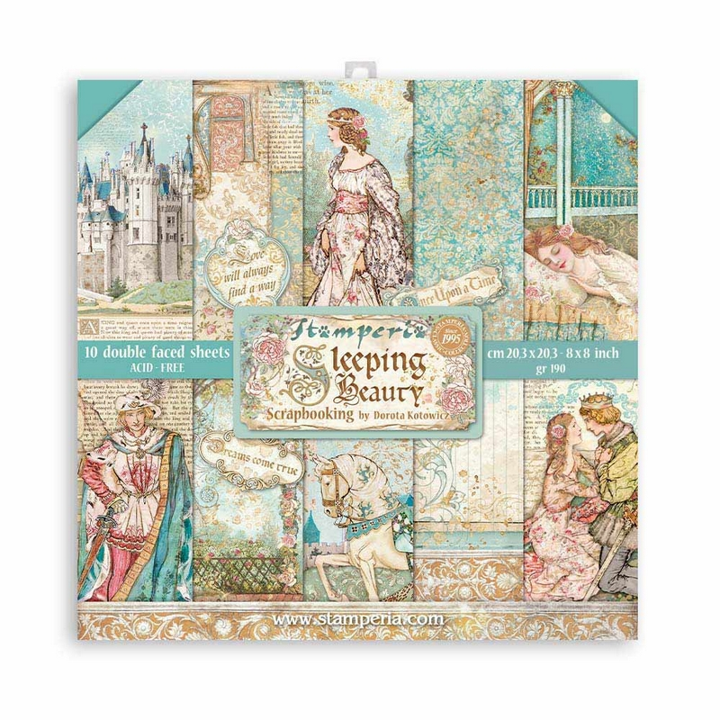 Χαρτιά scrapbooking Stamperia 10τεμ, 30.5x30.5cm, Sleeping Beauty