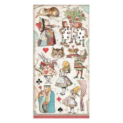 Χαρτιά scrapbooking Stamperia 10τεμ μονής όψης, 15x30,5cm Romantic Horses