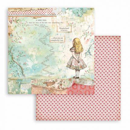 Χαρτιά scrapbooking Stamperia 22τεμ, 30.5x30.5cm,  Alice in Wonderland and through the looking glass