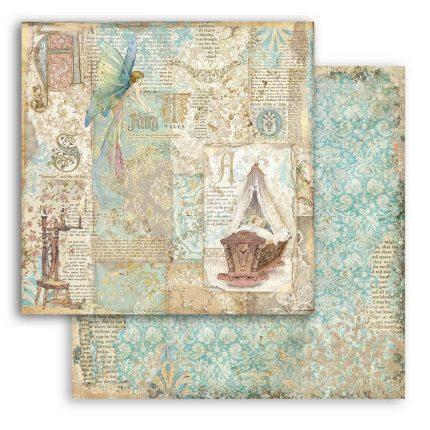 Χαρτιά scrapbooking Stamperia 10τεμ 15.24x15.24cm, Sleeping Beauty