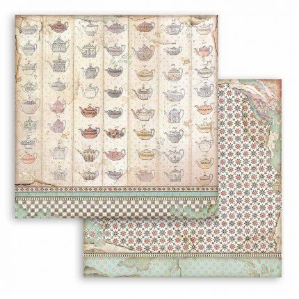 Χαρτιά scrapbooking Stamperia 10τεμ 15.24x15.24cm, Alice through the looking glass