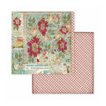 Χαρτιά scrapbooking Stamperia 10τεμ 15.24x15.24cm, Alice Worderland