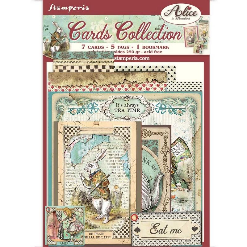 Συλλογή καρτών Stamperia, Alice in Wonderland