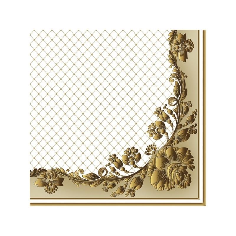 Χαρτοπετσέτα για decoupage 1 τεμ., Ζωγραφισμένα αγγλικά τριαντάφυλλα