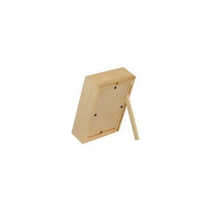 Κορνίζα ξύλινη 3D με γυαλί, 18x13x5cm
