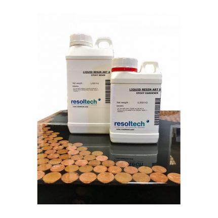 Εποξική ρητίνη-υγρό γυαλί Liquid Resin Art (1+0,5kg)