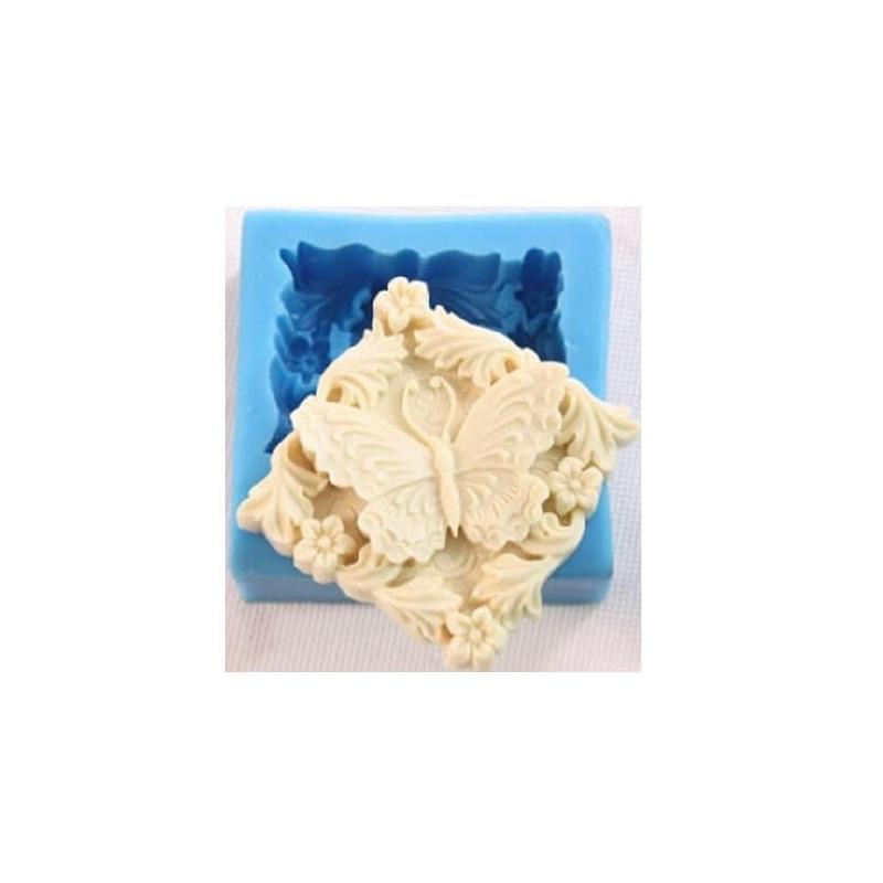 Καλούπι σιλικόνης και για σαπούνι, Butterfly frame 60x60x25mm