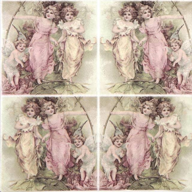 Χαρτοπετσέτα για Decoupage Vintage Decoupage Fairies,1 τεμ.