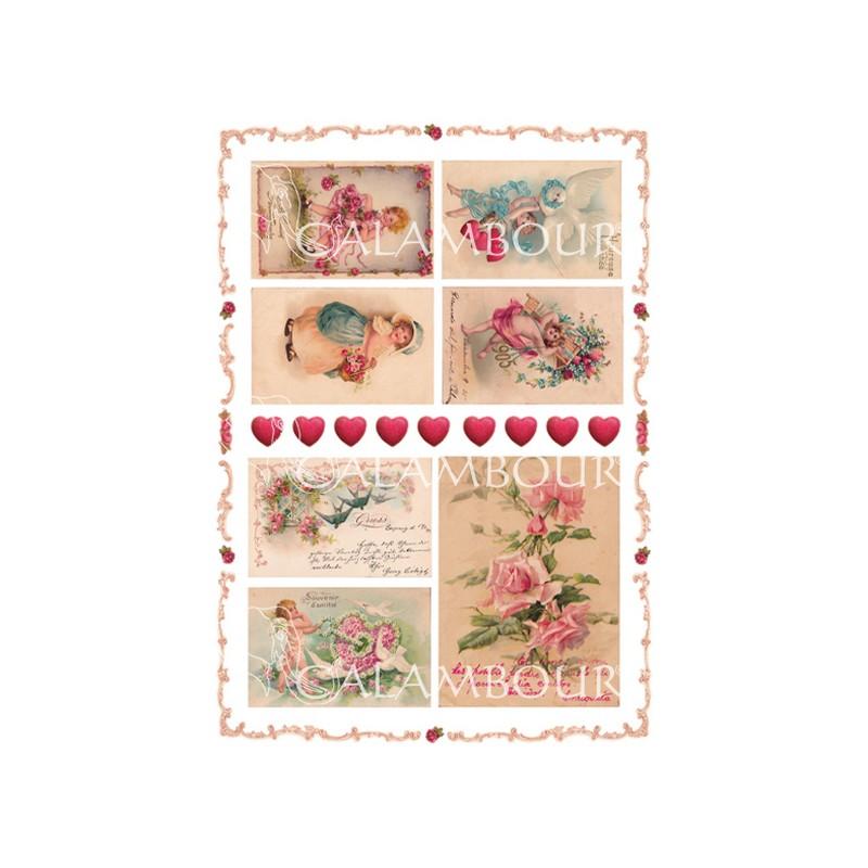 Ριζόχαρτo Maja Collection Kids and flowers 35x50cm
