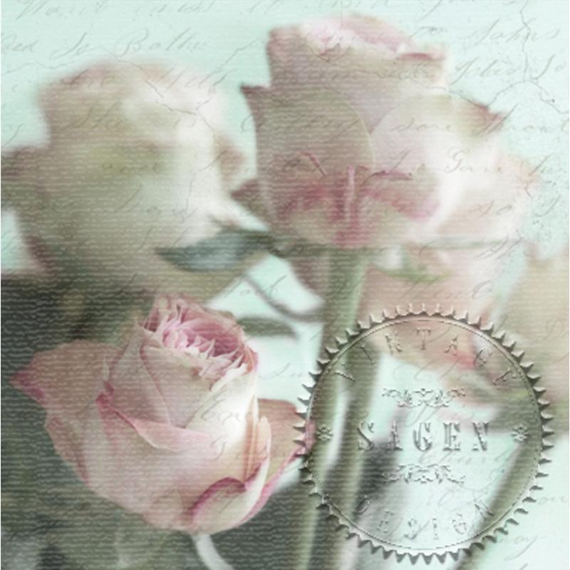 Χαρτοπετσέτα για Decoupage Vintage Τριαντάφυλλα, 1 τεμ.