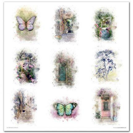 Album Scrapbooking ITD μονής όψης, Garden of Dreams, 10 τεμ.