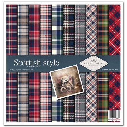 Album Scrapbooking ITD μονής όψης, Scottish style, 10 τεμ.