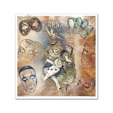 Album Scrapbooking ITD μονής όψης, Carnival - Pierrot in Love, 10 τεμ.
