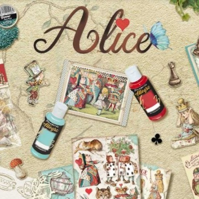 Alice Through the Looking Glass Collection Stamperia