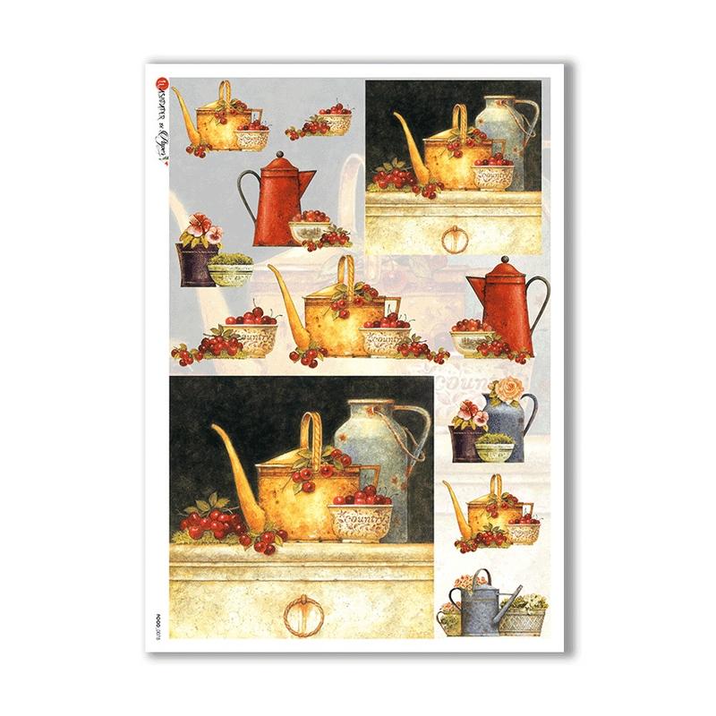 Ριζόχαρτο PaperD για Decoupage με Αλεπού 32x45cm, ANIMALS_0156