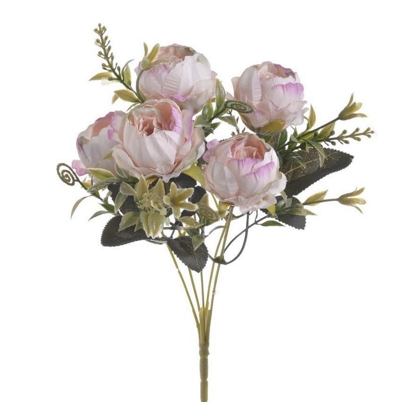 Μπουκέτο τριαντάφυλλα light pink, 32cm