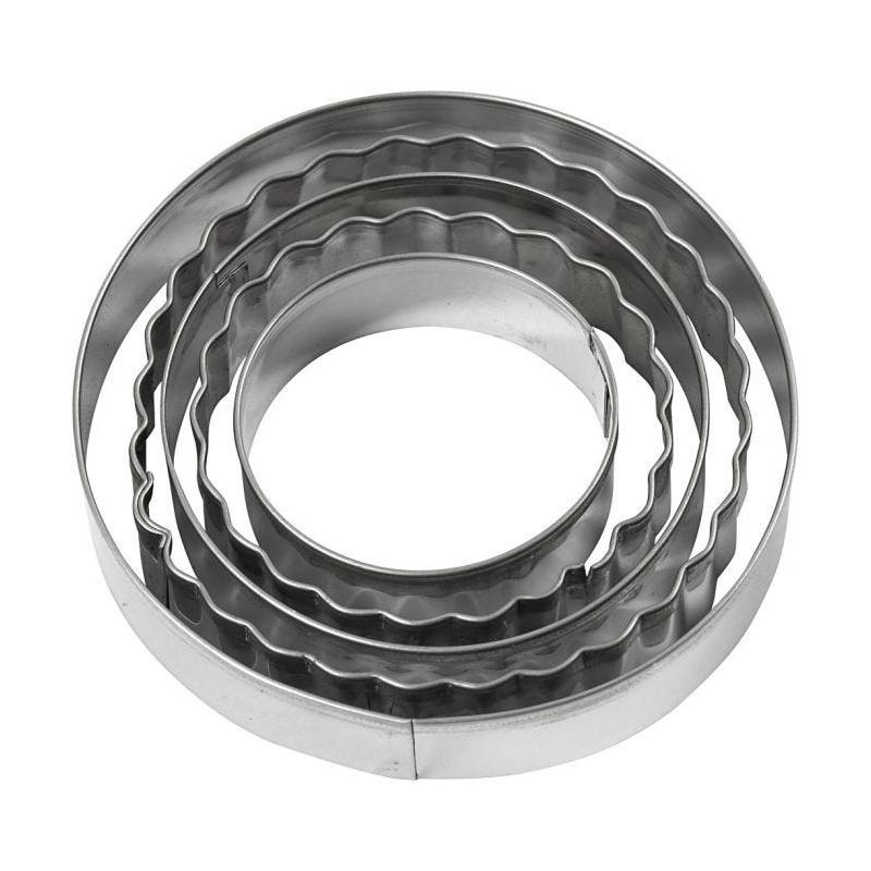 Κουπάτ μεταλλικά, Κύκλος, 8cm, 5 τεμ.