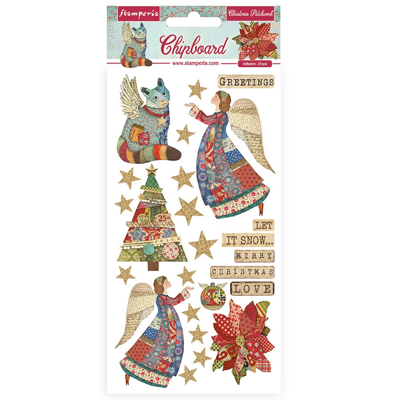 Chipboard Stamperia 15x30cm Winter Tales, Christmas elements