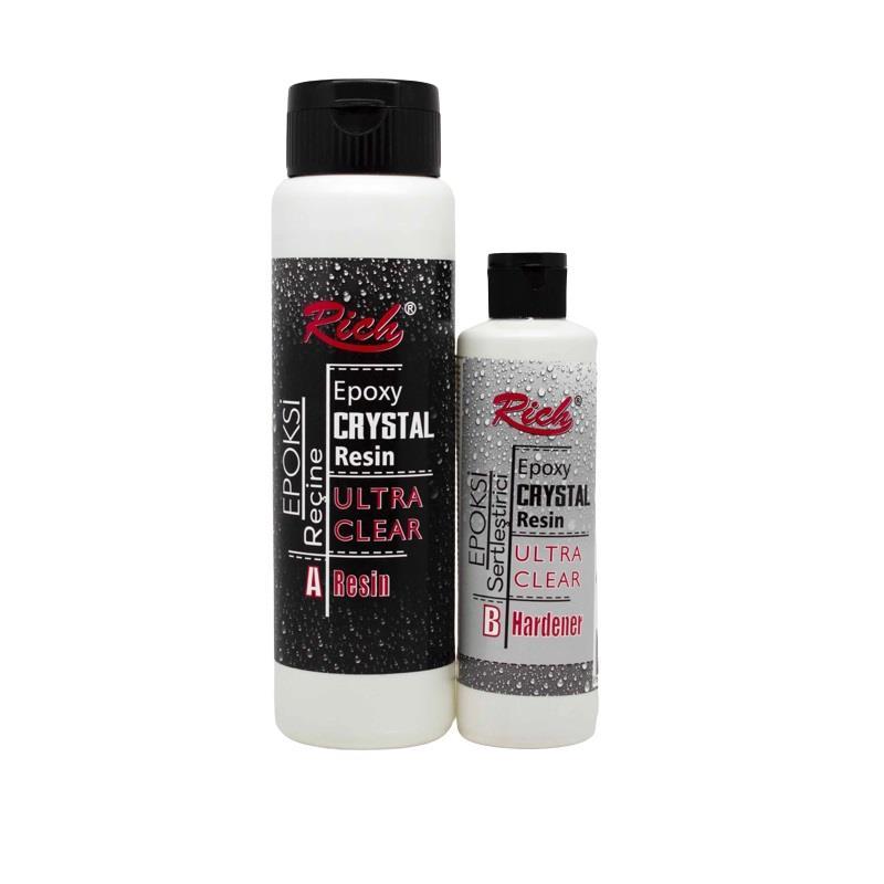 Εποξική κρυσταλλική ρητίνη-υγρό γυαλί Crystal Resin (500+250ml)