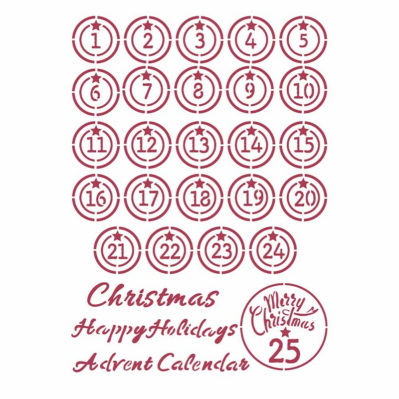 Στένσιλ Stamperia 21x29,7cm, Christmas Patchwork, Balls