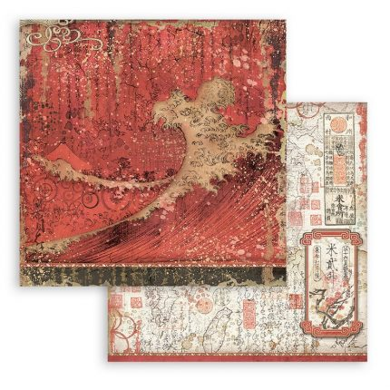Χαρτιά scrapbooking Stamperia 10τεμ, 30.5x30.5cm, Sir Vagabond in Japan