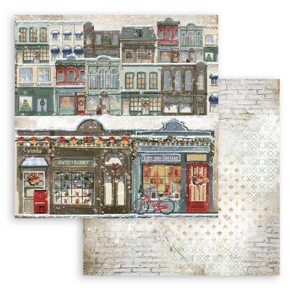 Χαρτιά scrapbooking Stamperia 10τεμ, 30.5x30.5cm, Romantic Christmas