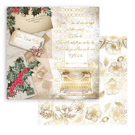 Χαρτιά scrapbooking Stamperia 10τεμ, 20.3x20.3cm, Romantic Christmas