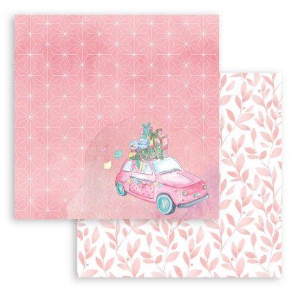 Χαρτιά scrapbooking Stamperia 10τεμ, 20.3x20.3cm, Christmas rose
