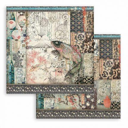 Χαρτιά scrapbooking Stamperia 10τεμ, 20.3x20.3cm, Sir Vagabond in Japan