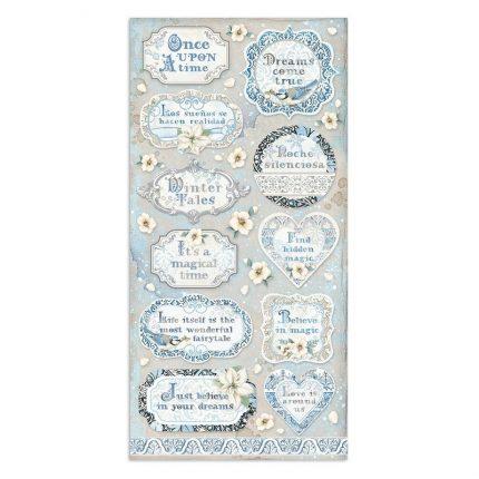 Χαρτιά scrapbooking Stamperia 10τεμ διπλής όψης, 15x30,5cm Winter Tales