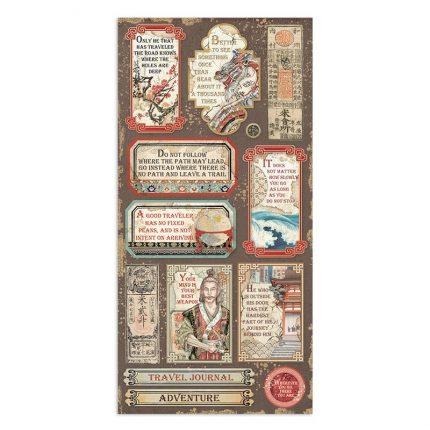 Χαρτιά scrapbooking Stamperia 10τεμ διπλής όψης, 15x30,5cm Sir Vagabond in Japan