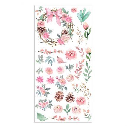 Χαρτιά scrapbooking Stamperia 10τεμ μονής όψης, 15x30,5cm Christmas rose