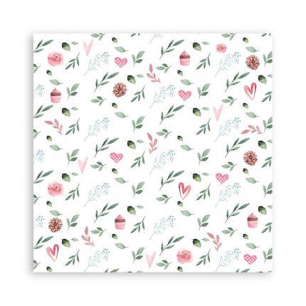 Χαρτιά scrapbooking Stamperia 22τεμ μονής όψης, 30.5x30.5cm,  Christmas rose