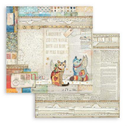 Χαρτιά scrapbooking Stamperia 10τεμ, 15.24x15.24cm Christmas Patchwork