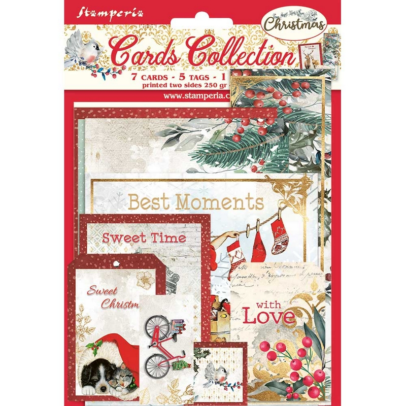 Συλλογή καρτών Stamperia, Pink Christmas