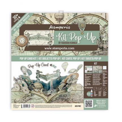 Κιτ δημιουργίας κάρτας Pop up Stamperia, Alice tea party