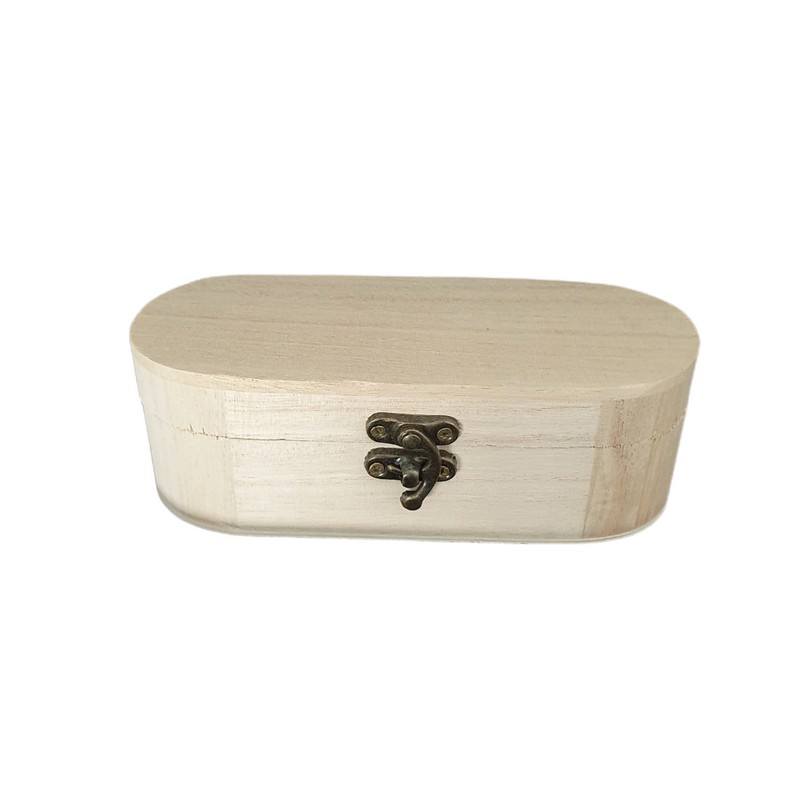 Κουτί ξύλινο οβάλ 15x6x5cm